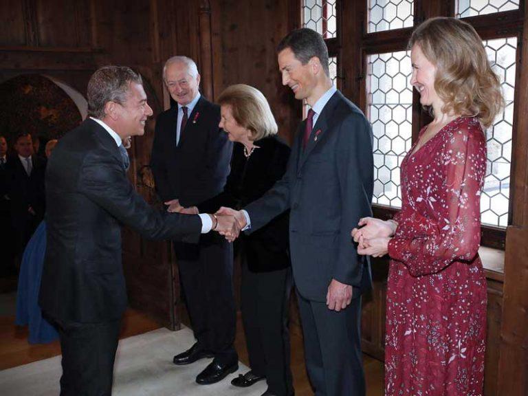 Le Prince Hériditaire de Liechtenstein reçoit l'Ambassadeur Dario Item